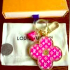 Louis Vuitton keychain with pouch and box EEEUC
